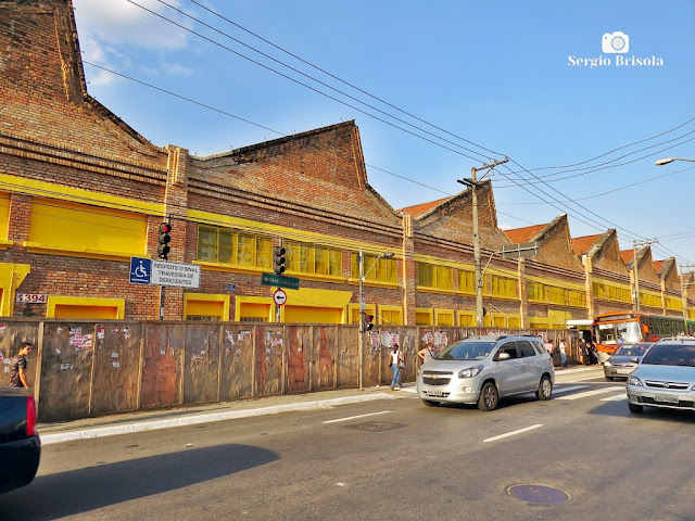 Vista da fachada lateral da Antiga Estação Ciência - USP - Lapa - São Paulo