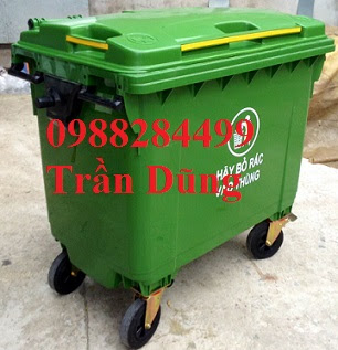 Thùng rác nhựa, xe đẩy rác, thùng rác 660l