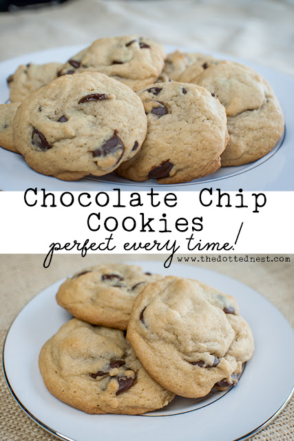 The very best Chocolate Chip Cookies Recipe, the only recipe you'll ever need to get perfect chocolate chip cookies every time!