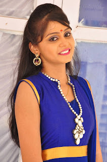 Actress Harisha Krishna Stills in Beautiful Blue Chudiddar  0009.jpg