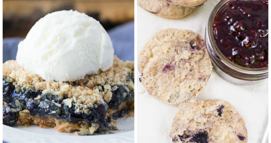 Easy Blueberry Recipes and Weekly Link Party