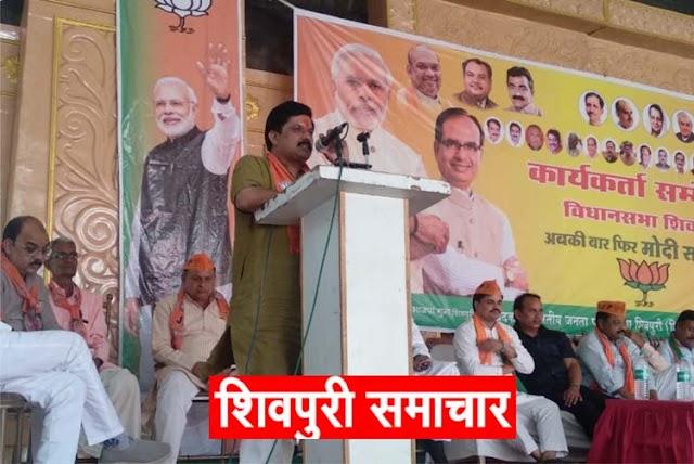 BJP प्रत्याशी केपी यादव ने रखा जनता की दुखती रग पर हाथ, सिंधिया की योग्यता पर सवाल | SHIVPURI NEWS