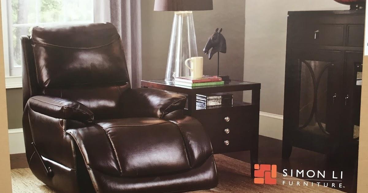 Simon Li Leather Glider Recliner Chair  Costco Weekender