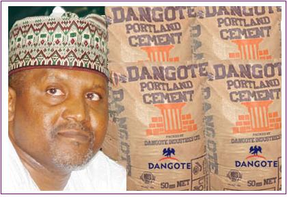 south africa dangote cement shares