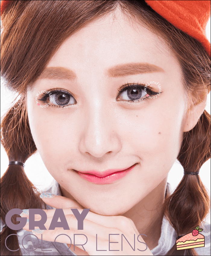 geo tricolor gray colored contacts