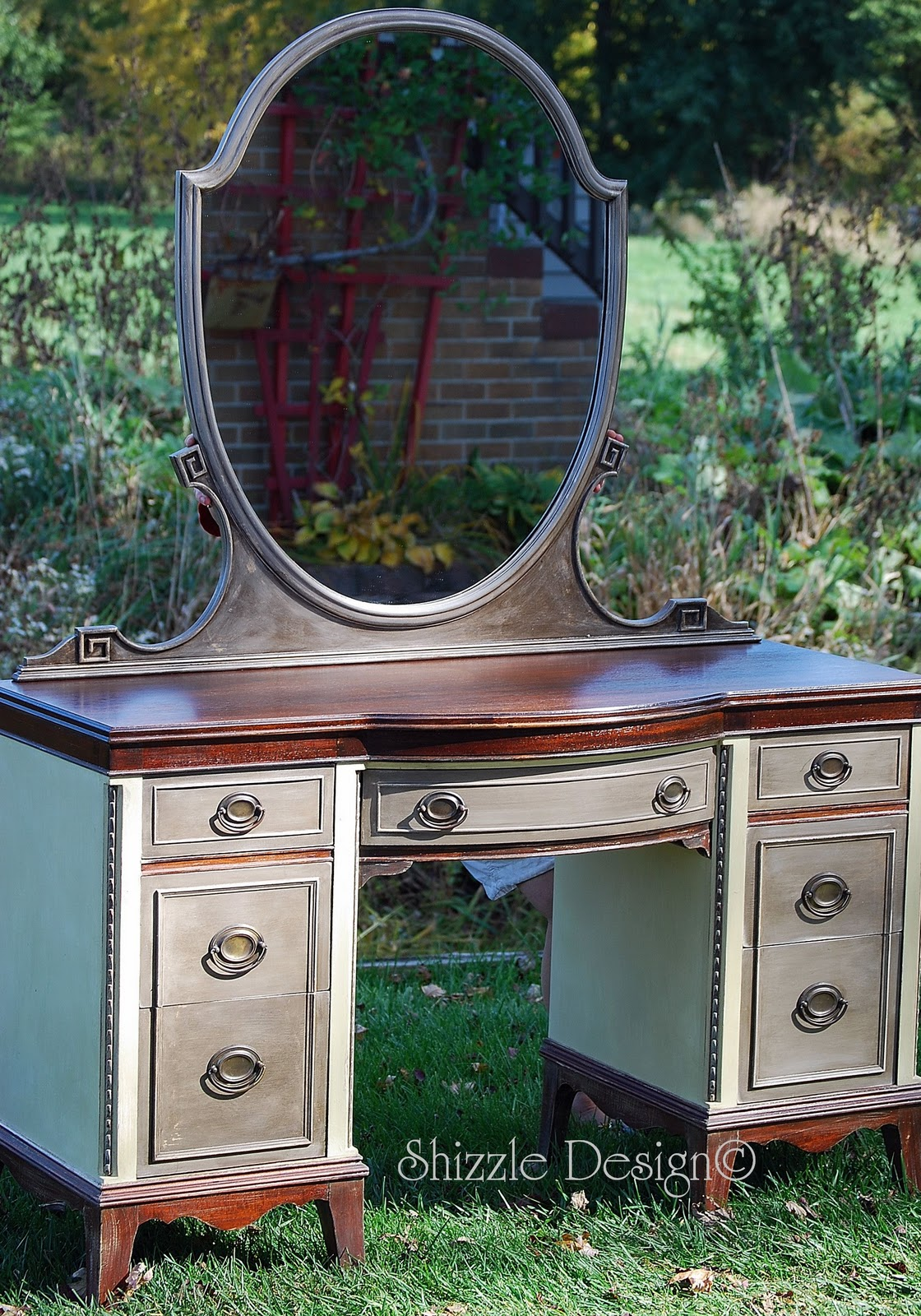 Shizzle Design | Antique Vanity and Gentleman's Chest in ASCP