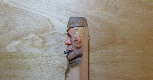 WWI soldier carving