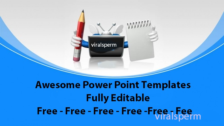 Awesome Powerpoint Template Free Download Viral Sperm