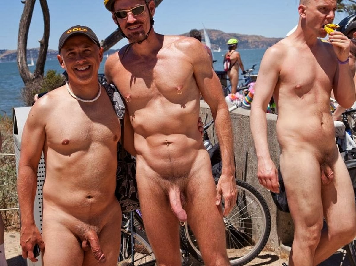 Nude man standing with erection
