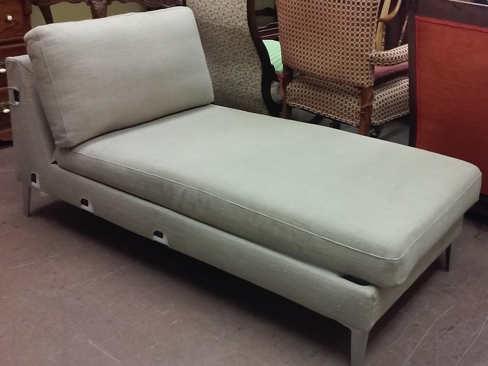 UHURU FURNITURE & COLLECTIBLES SOLD Beige IKEA Chaise Lounge $25