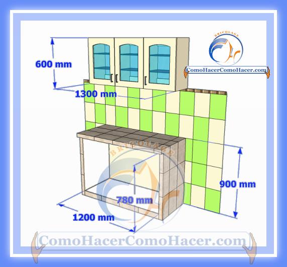 Cocina mesada de concreto gu a detallada para colocar for Como instalar una cocina integral pdf