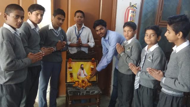 Akhil Bharatiya Vidyarthi Parishad, Faridabad, with forbidden children, Sant Guru Ravidas Jayanti