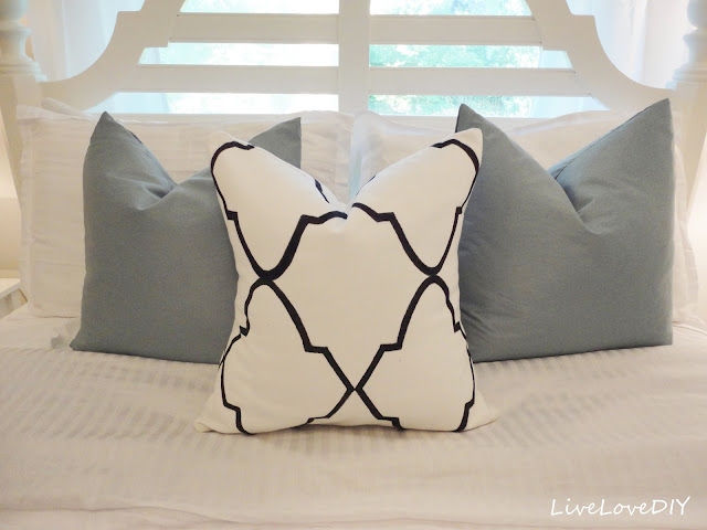 Designer Pillow with a Sharpie
