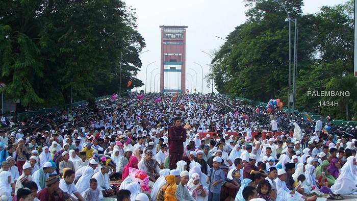 Perayaan Shalat Ied Di Masjid Agung Palembang 1434 H Bantencom