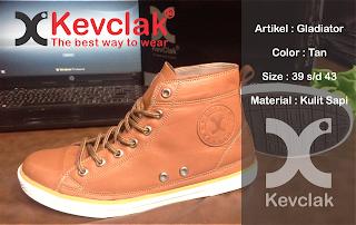 Jual Sepatu Kulit Boot warna tan murah promosi