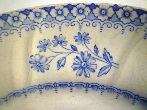 Antiek Delfts Blauw Merktekens.Boch La Louviere B F K Vintageretrobrocante
