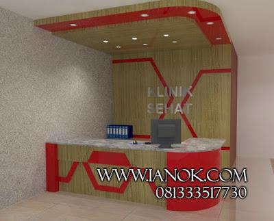 jual meja resepsionis kantor Surabaya sidoarjo gresik mojokerto dan sekitarnya