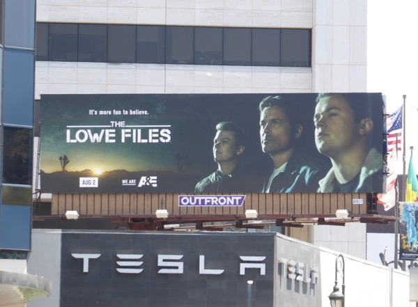 Lowe Files series premiere billboard