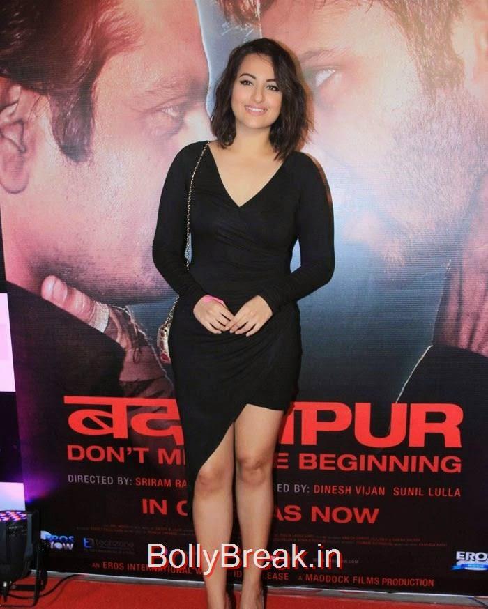 Sonakshi Sinha, Hot Pics of Sonakshi Sinha, Shraddha Kapoor At 'Badlapur' Success Bash