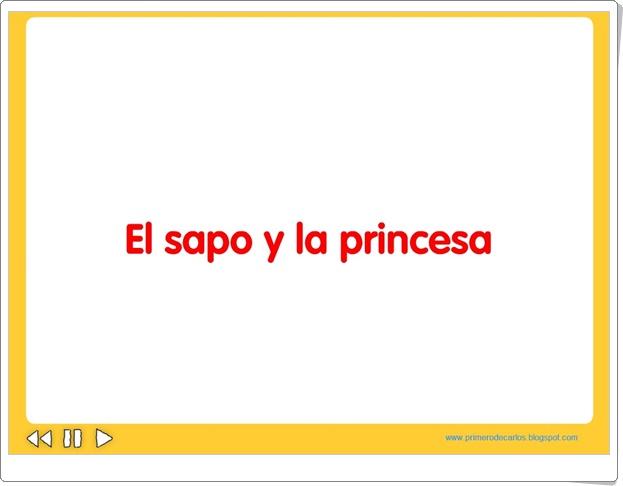 """""""El sapo y la princesa"""" (Cuento audiovisual)"""