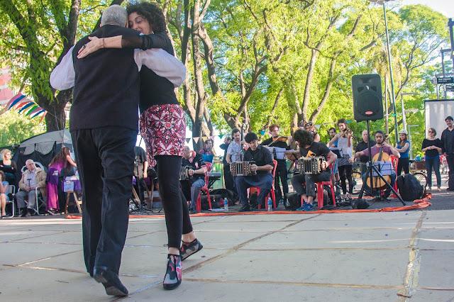 Prática de Tango no Parque Patrícios