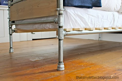 diy galvanized steel pipe bed legs