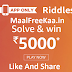 Amazon Riddles Solve & Win Rs 5000 (Answer Added)