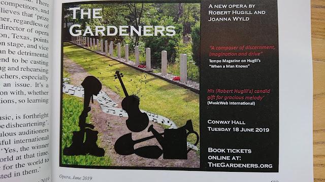 The Gardeners advert in Opera Magazine