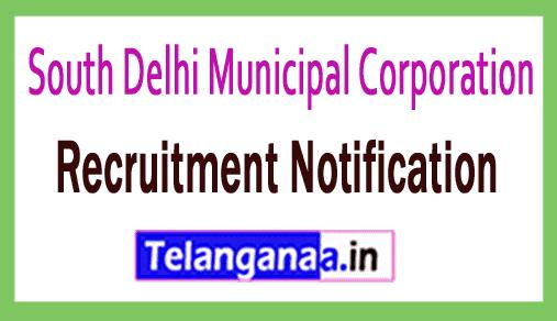 South Delhi Municipal Corporation SDMC Recruitment Notification