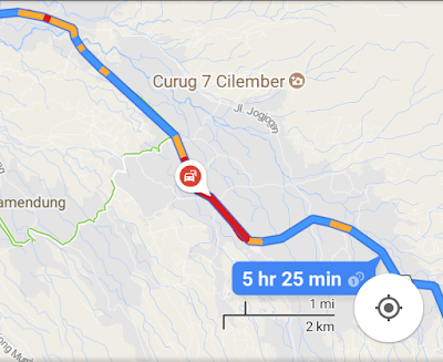 rute jalan google maps