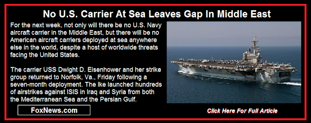 No U.S. Carrier At Sea Leaves Gap In Middle East
