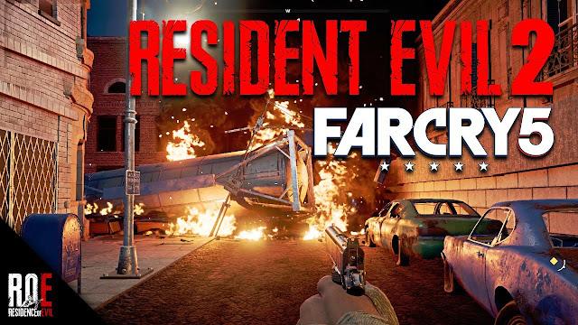 لنشاهد بالفيديو إعادة تصميم المرحلة الأولى من لعبة Resident Evil 2 داخل لعبة Far Cry 5 ، شيء إحترافي …