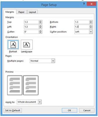 Cara Mengatur Margin Halaman, Ukuran, dan Orientasi di Word 2013 Dengan Mudah