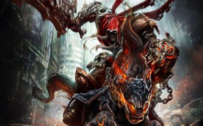 Darksiders War sur son Cheval - Fond d'Écran en Full HD 1080p