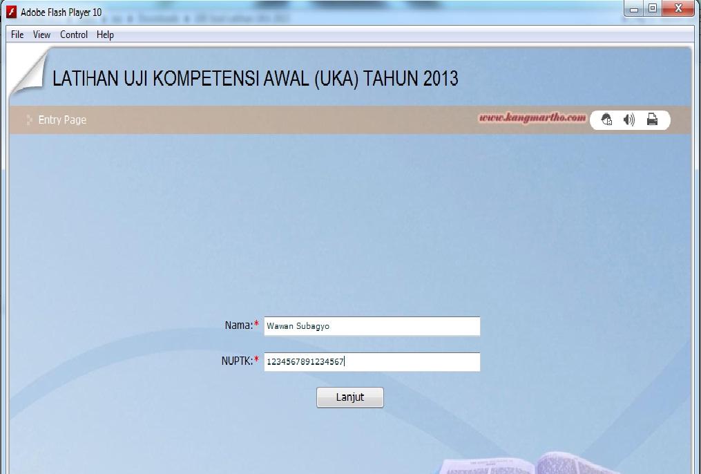 Jadwal Dan Soal Latihan Uka 2013