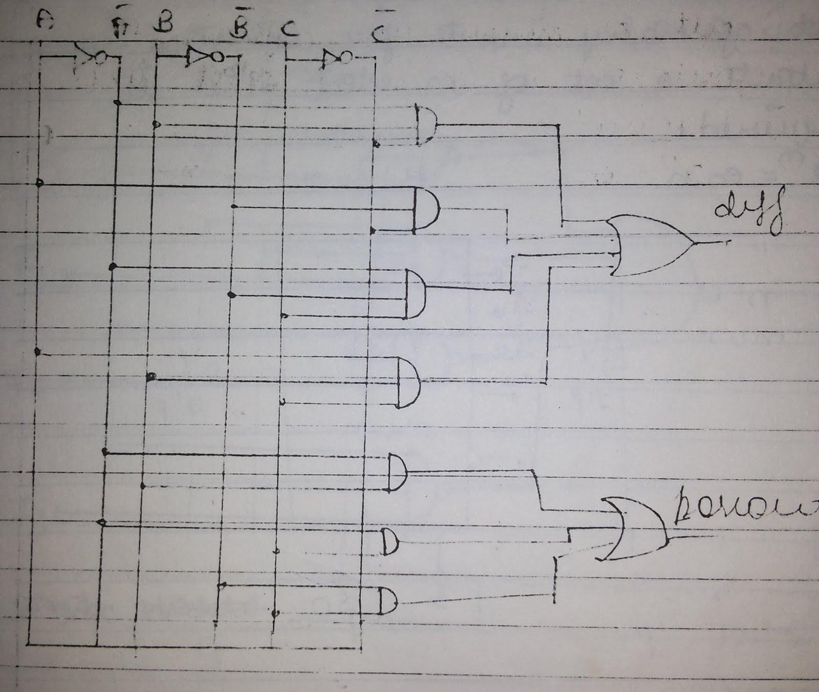 logic diagram of full subtractor circuit  [ 1600 x 1353 Pixel ]