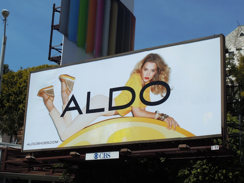 Yellow Aldo Shoes billboard