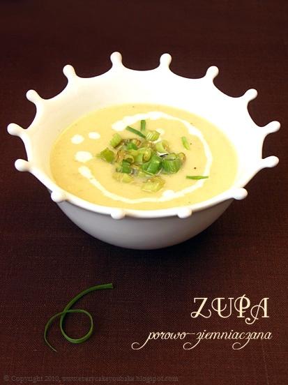 kremowa i aksamitna zupa z porów i ziemniaków