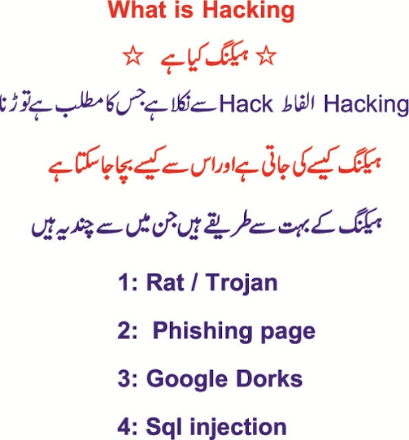 what is hacking and types of hacking Urdu