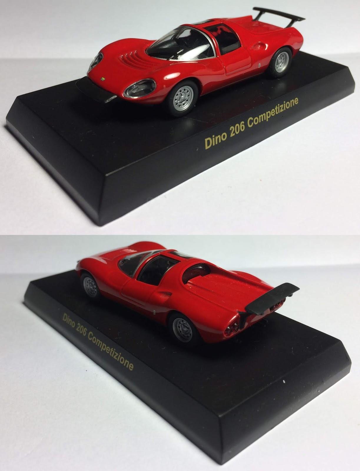 Kyosho 1//64 Ferrari III Dino 206 Competizione Diecast Car Model RED