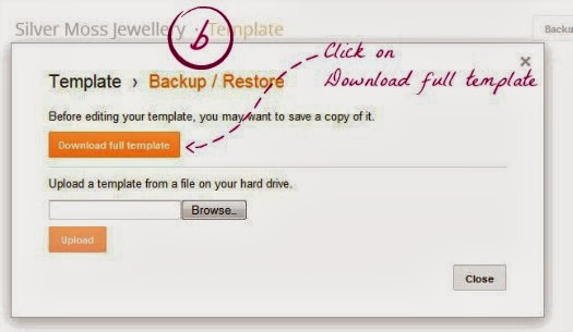 how to backup your blog - part b
