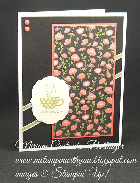 Miriam Castanho-Bollinger, #mstampinwithyou, stampin up, demonstrator, dsc, anniversary card, pretty petals dsp, smarty pants stamp set, big shot, labels collection, su