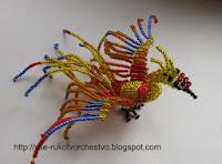 Жар-птица из бисера. Схема