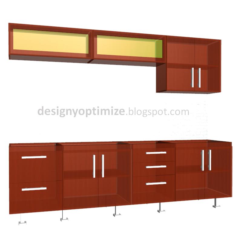 Dise o de muebles madera fabricando cocina lineal de - Planos de muebles de cocina ...