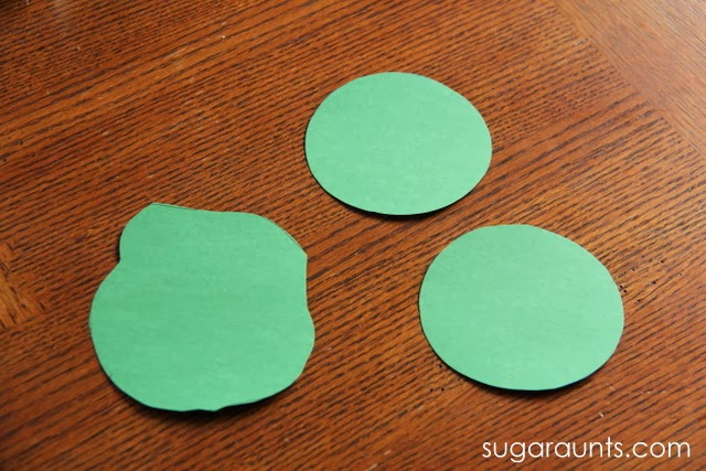 Cut circles for a Cherry blossom tree