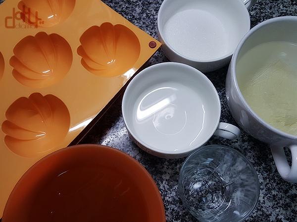Preparando los moldes