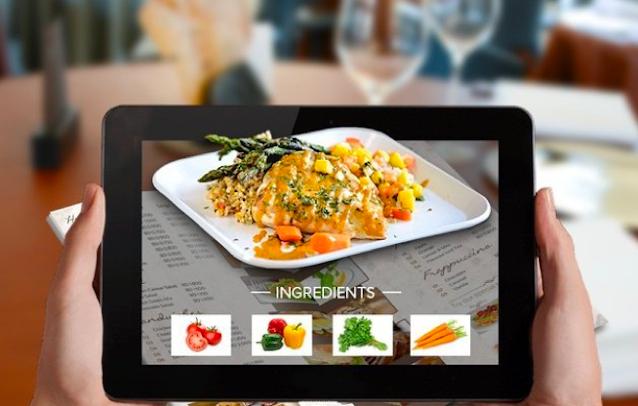 AR based food menu in restaurent