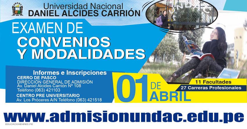 Resultados UNDAC 2018-2 (1 Abril) Ingresantes Examen por Modalidades y Convenios - Universidad Nacional Daniel Alcides Carrión | www.admisionundac.edu.pe | www.undac.edu.pe