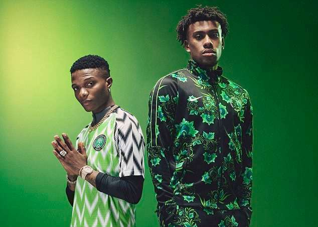 Photos showing the outfit to be worn by the Super Eagles at Russia 2018