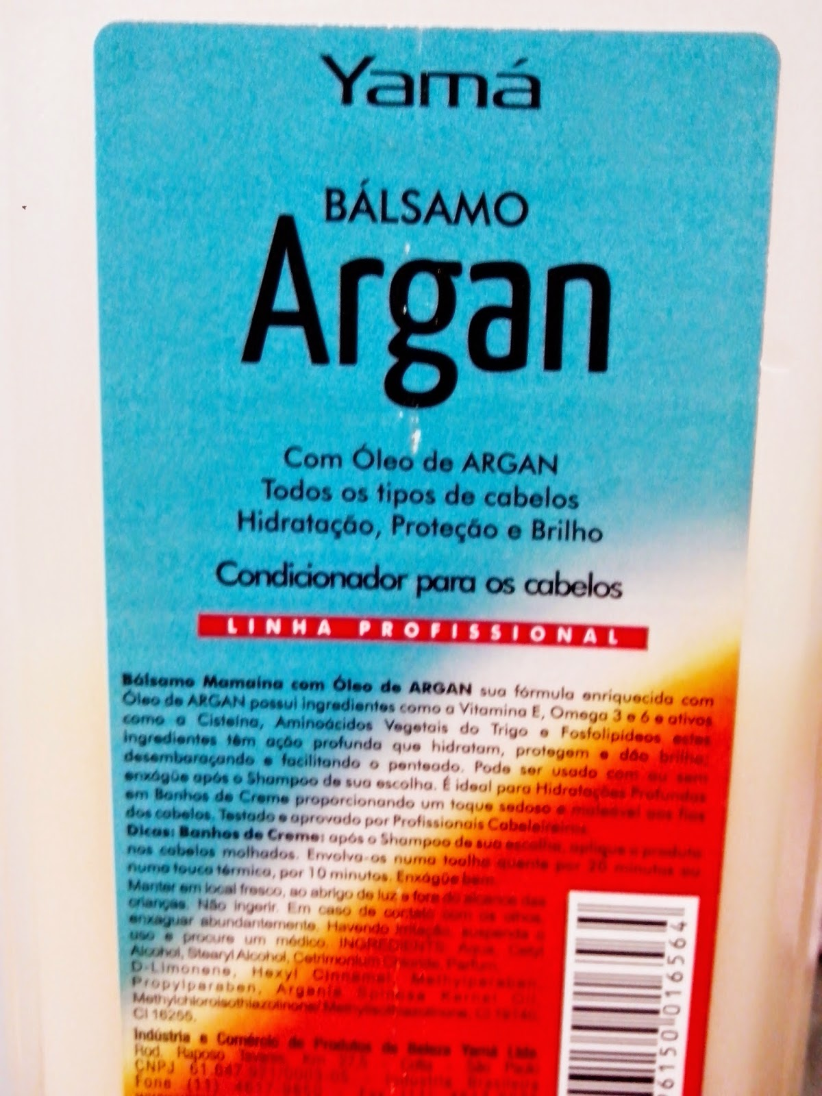 Yamá Balsamo Argan low poo no poo